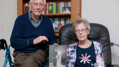 Photo of Echtpaar Klein Ovink – Kuiper uit Diezerpoort 65 jaar getrouwd
