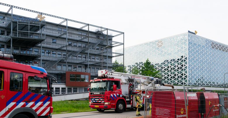 Photo of Aggregaat in brand bij Hogeschool Windesheim