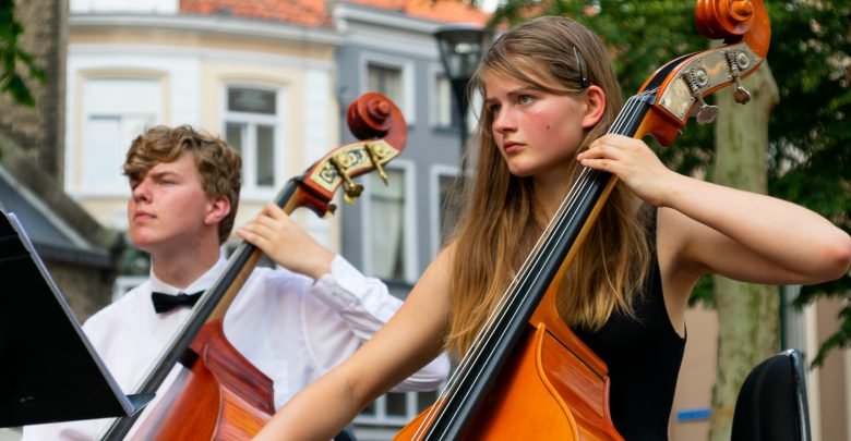 Photo of In beeld: Tropisch zomeravondconcert Jeugdsymfonieorkest de Vuurvogel in centrum