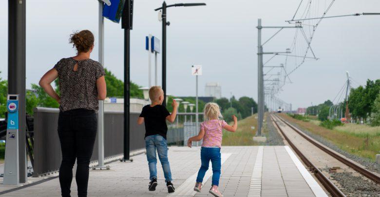 Photo of Eerste stop Kamperlijntje op Station Stadshagen is een feit