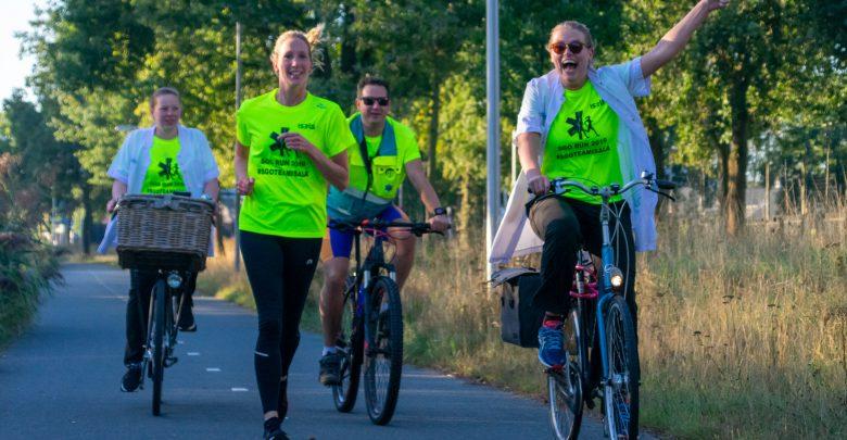 Photo of In beeld: Artsen en verpleegkundigen Isala rennen voor goede doel