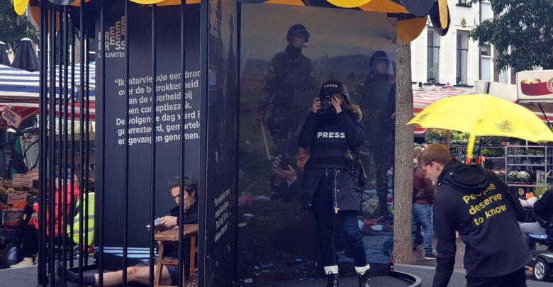 Photo of Free Press Unlimited laat bezoekers zien hoe gevaarlijk het werk van journalisten kan zijn