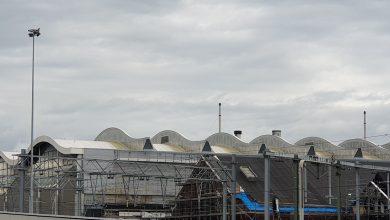 Photo of Nieuwe authentieke gevel voor oude werkplaatsloodsen Wärtsilä