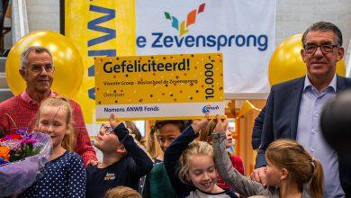 Photo of Basisschool de 7Sprong ontvangt cheque van €10.000