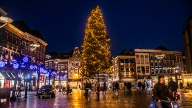Photo of Kerstboom Grote Markt stralend middelpunt stadshart
