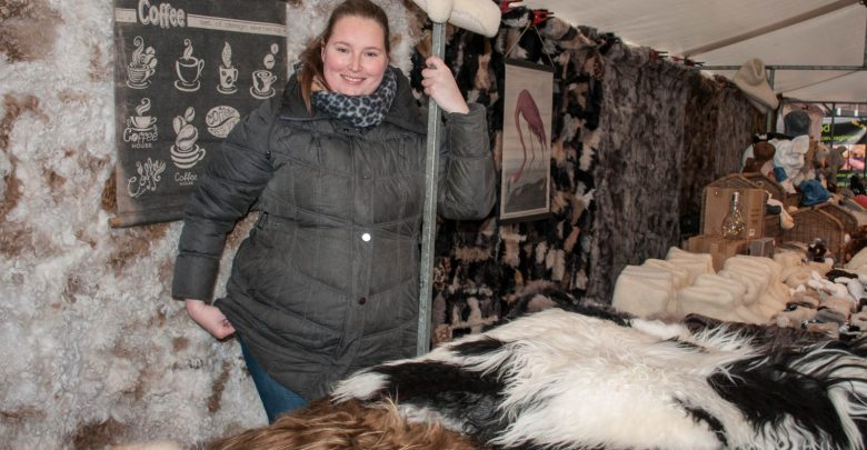 Photo of Marjolein Hamburg heeft een bijzondere decoratiekraam