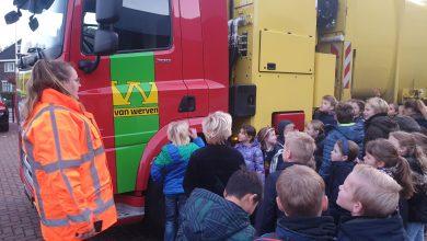 Photo of Dodehoekles voor Parkschool vanwege zandautotransporten