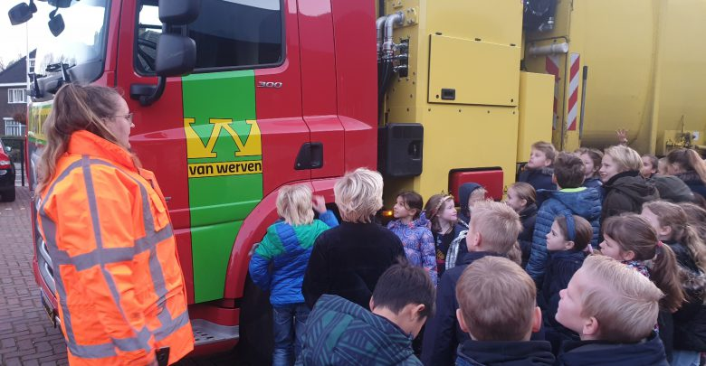 Photo of Dodehoekles voor Parkschool vanwege zandautotransporten