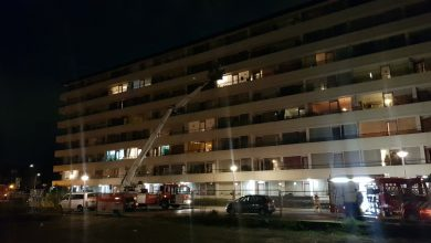 Photo of Zeer grote brand in zorgflat De Keersluis aan de Harm Smeengekade