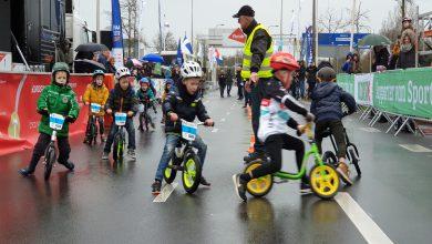 Photo of Loopfiets-rennertjes racen eigen koers op finish van de Ster