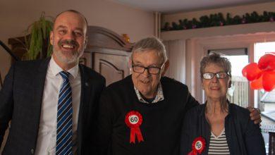 Photo of Echtpaar Van den Beld – Moorman uit de binnenstad 60 jaar getrouwd