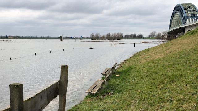 Photo of Uiterwaarden langs IJssel nog twee weken onder water