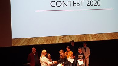 Photo of CCC-leerling Vera wint regional round Junior Speaking Contest