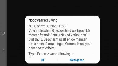 Photo of Overheid zend NL-Alert bericht uit; houd 1,5 meter afstand!