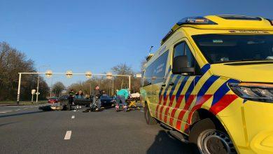 Photo of Motorrijder gewond bij aanrijding Zwartewaterallee