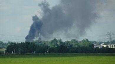Photo of NL Alert voor Zwolle Noord en West vanwege brand Hasselt