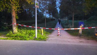 Photo of Hut in bosjes Oldenelerpark Zwolle-Zuid in de brand