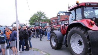 Photo of Boeren zetten Albert Heijn Distributiecentrum Zwolle dicht