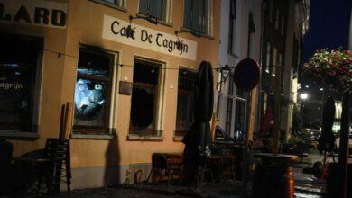 Photo of Brand bij café de Tagrijn in binnenstad van Zwolle