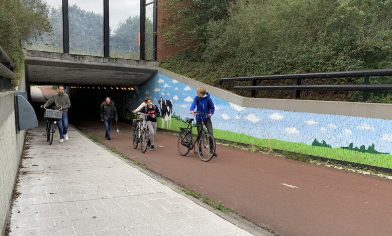 Photo of Drukke tunnel naar Hogeschool Windesheim tijdelijk verboden voor fietsers