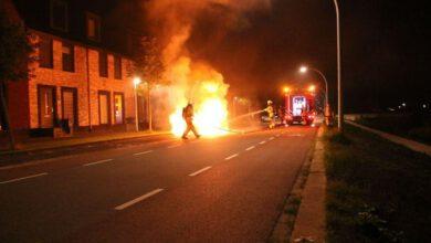 Photo of Wederom autobrand aan Jac. P. Thijsselaan, Stadshagen