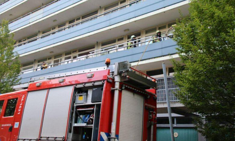 Photo of Wasdroger in brand in appartement aan Palestrinalaan