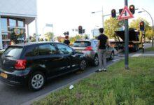Photo of Schade bij kop-staartbotsing Pannekoekendijk