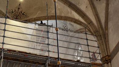 Photo of In beeld: Restauratiewerk gestart in Grote Kerk Zwolle