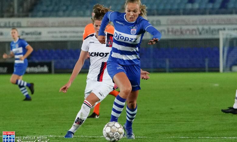 Photo of PEC Zwolle Vrouwen spelen gelijk in Alkmaar
