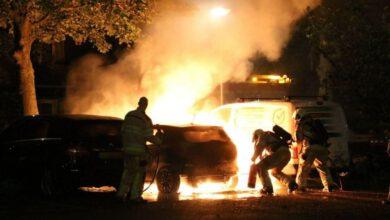 Photo of Auto brandt uit op parkeerplaats aan de Dollard