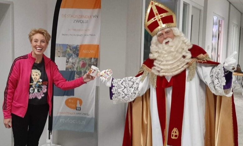 Photo of Sinterklaas bij Radio Focus