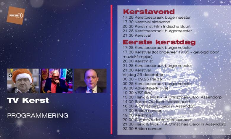 Photo of Veel kerstprogramma's op TV bij RTV Focus
