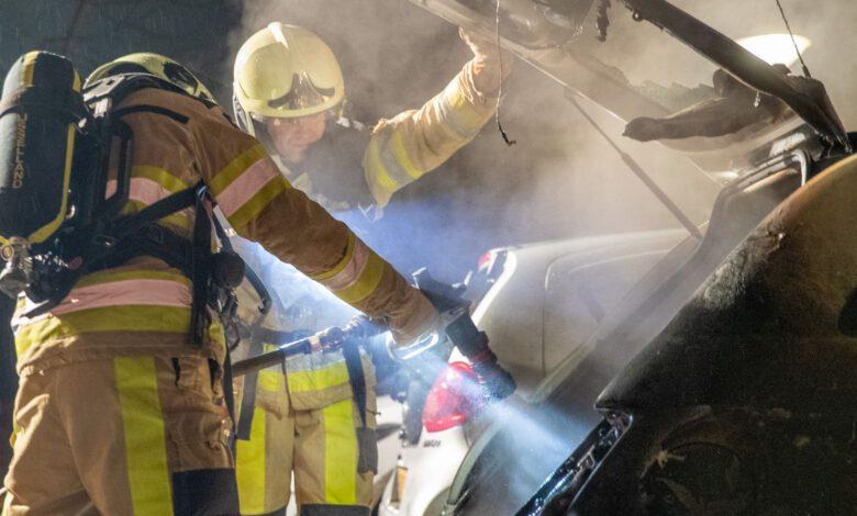 Photo of Brandweer rukt uit bij autobrand Touwslagerij Zwolle