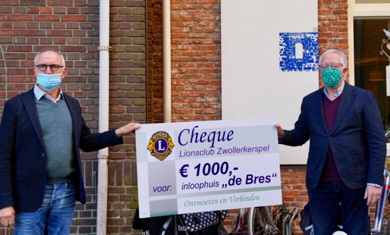 Photo of Lionsclub Zwollerkerspel schenkt 1000 euro aan De Bres