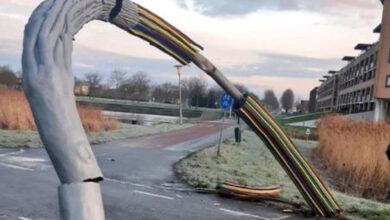 Photo of Kunstwerk Twistvlietpad zwaar beschadigd na 'harde knal'