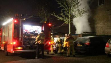 Photo of Schutting in brand aan de Wayerkamp Zwolle-Zuid