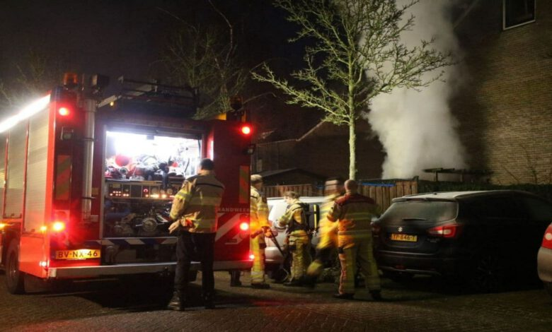 Photo of Schutting in brand aan de Wayerkamp Zwolle-Zuid