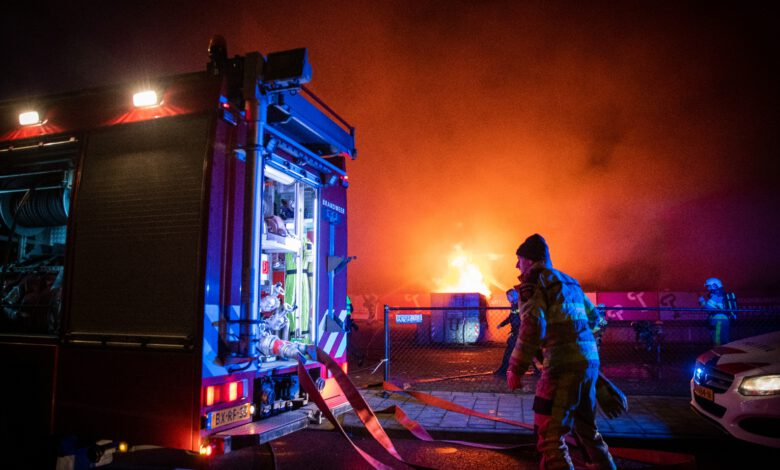 Photo of Forse containerbrand Westerlaan