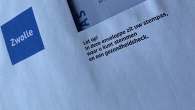 Photo of 'Taalvoutje' siert stempas enveloppe gemeente Zwolle: gezondheids'heck'
