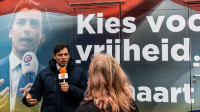 Photo of Thierry Baudet op campagne in Zwolle