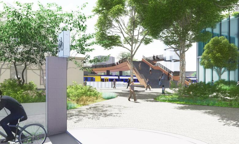 Photo of HERHALING Online Spoorcafé over de nieuwe voetgangersbrug over het spoor