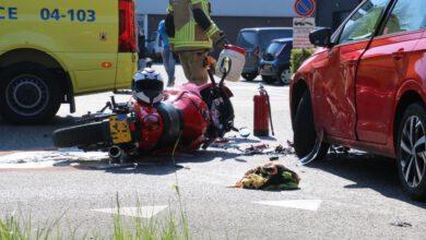Photo of Motorrijder gewond na aanrijding bij afrit A28