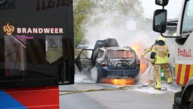 Photo of Auto brandt volledig uit op Spoolderbergweg