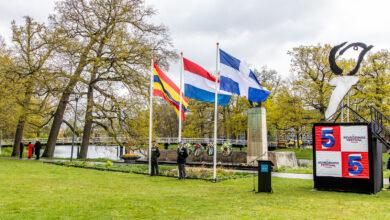 Photo of Op 5 mei konden de vlaggen weer in top