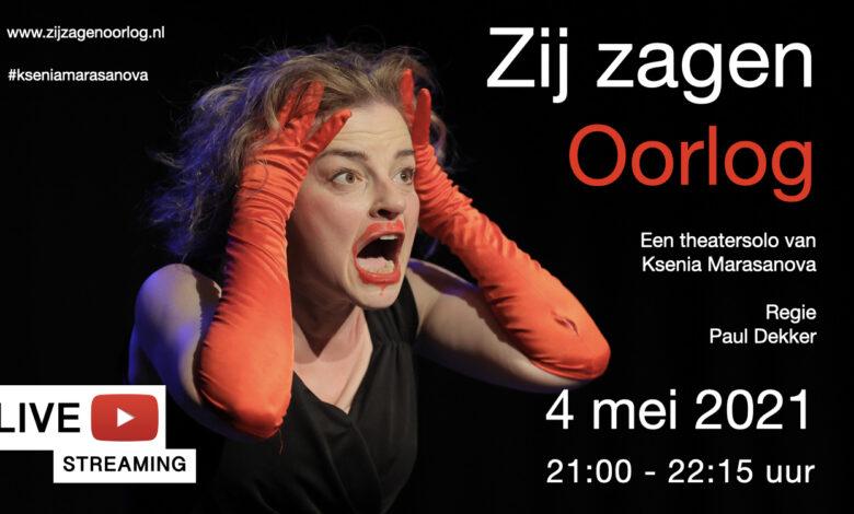 Photo of Ksenia Marasanova speelt op 4 mei het bekroonde 'Zij zagen Oorlog' als onderdeel van Theater na de Dam