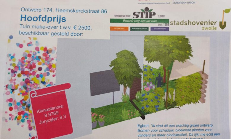 Photo of Prijs voor de meest groene achtertuin in Zwolle
