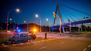 Photo of Doorrijder na ongeval bij Stadshagen in de kraag gevat