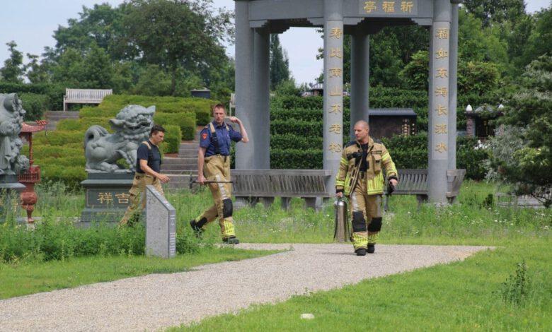 Photo of Buitenbrandje bij begraafplaats in Zwolle