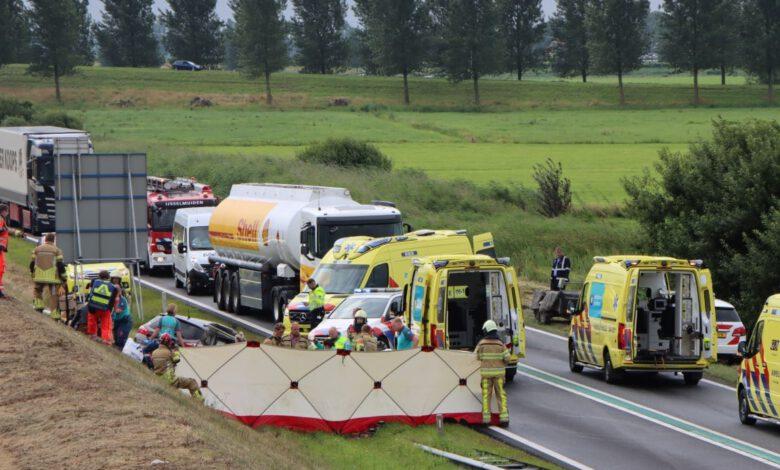 Photo of Zwaar ongeval op N50 Zwolle – Kampen; weg volledig afgesloten