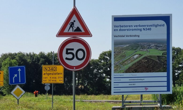 Photo of N340 Zwolle – Ommen drie week potdicht door wegwerk